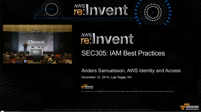 IAM Best Practices 2014 reinvent