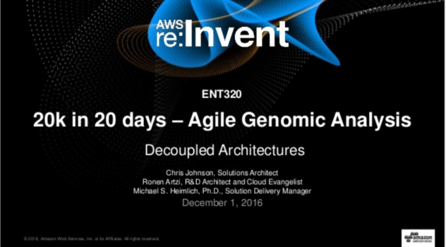 AstraZeneca - re:Invent 2016