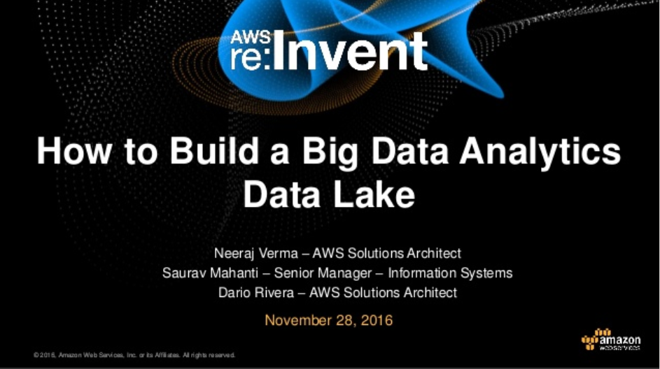 Amgen uses AWS to Build a Data Lake