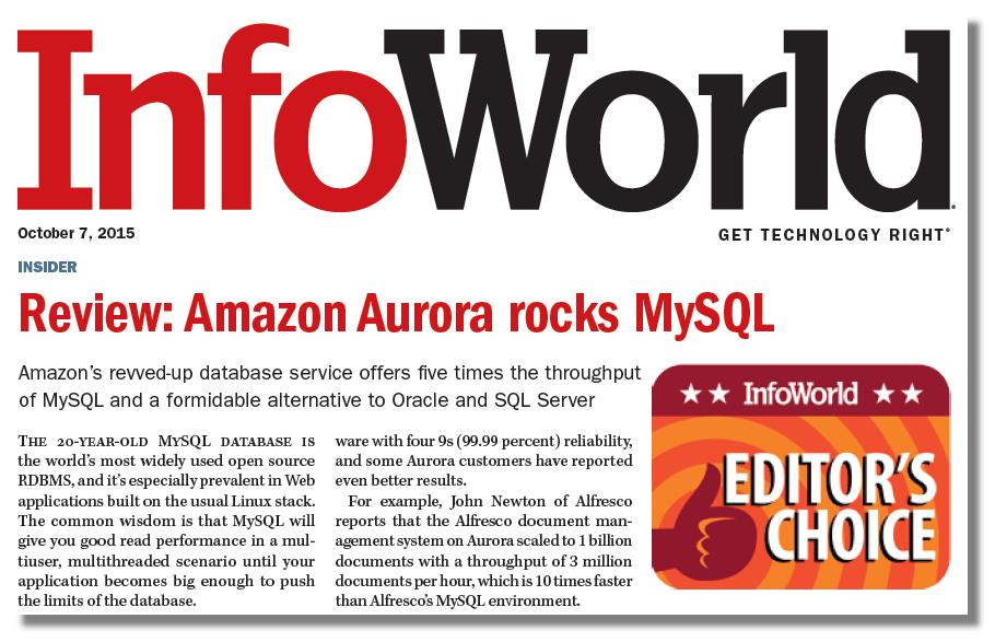 Infoworld Aurora Report Snaphot