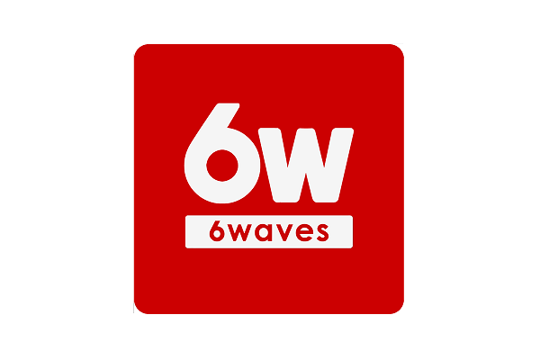 6 Waves logo
