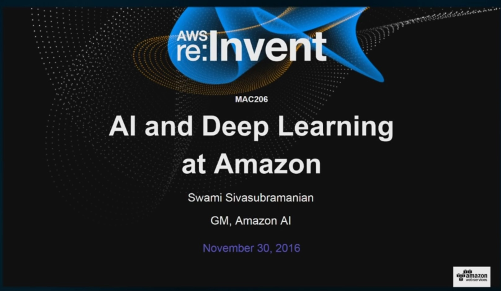 AI and Deep Learning at Amazon