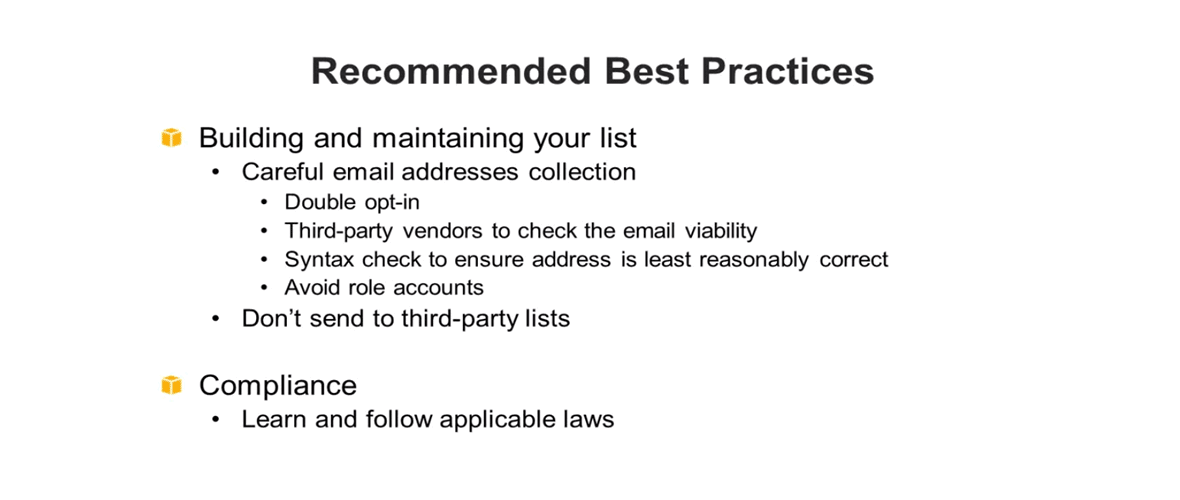 Amazon SES Best Practices Webinar