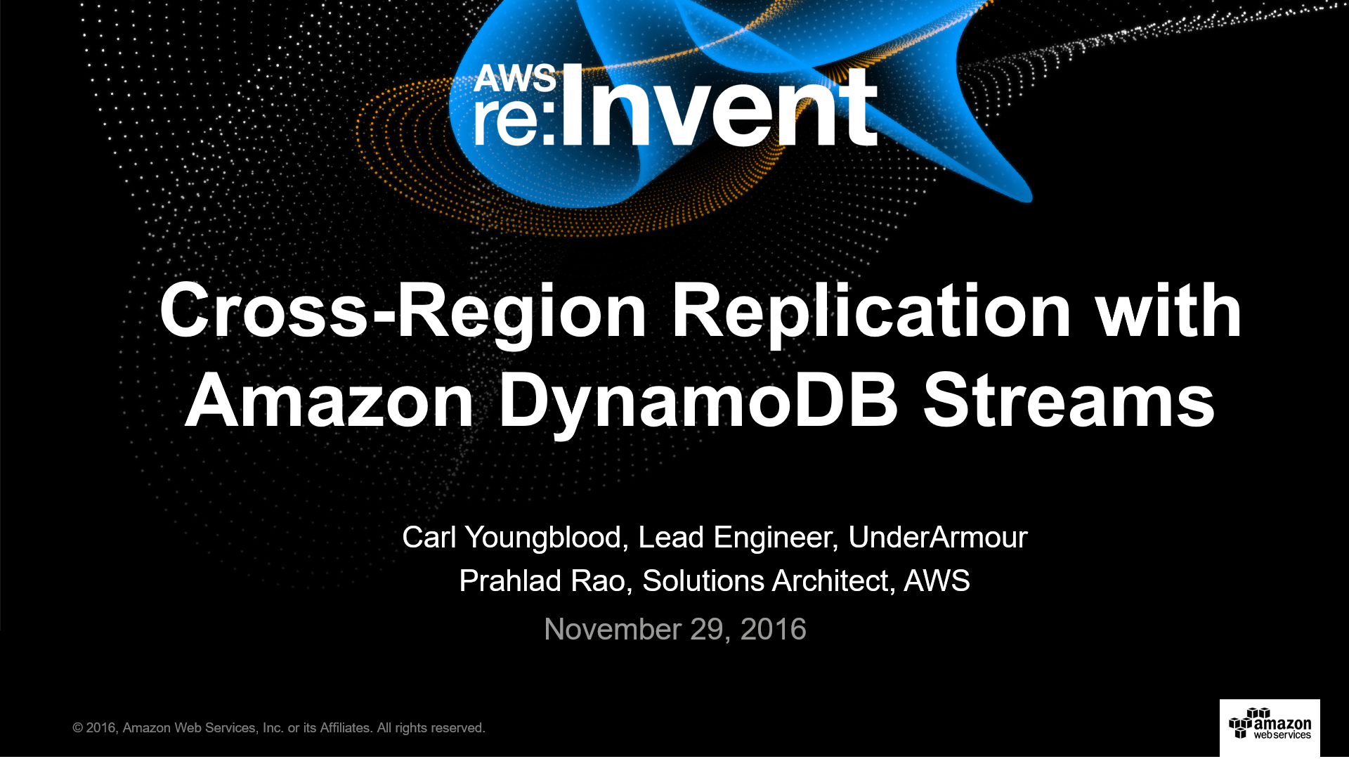 DAT201 Cross Region Replication DynamoDB