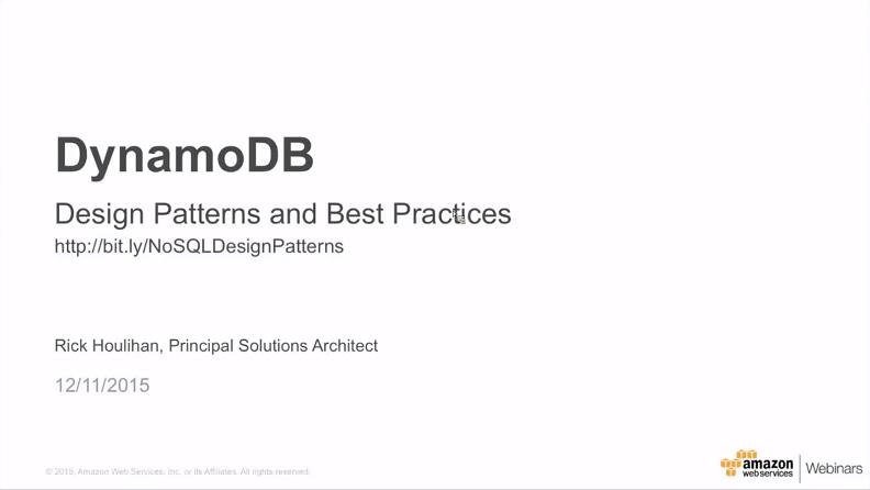 AWS   Amazon DynamoDB   Getting Started