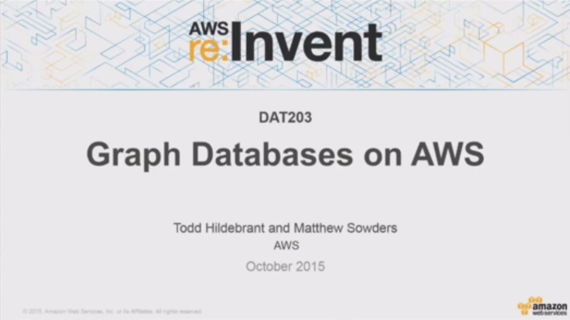 Graph Databases on AWS