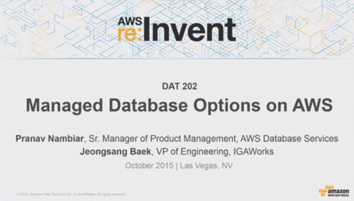 Understanding Database Options on AWS